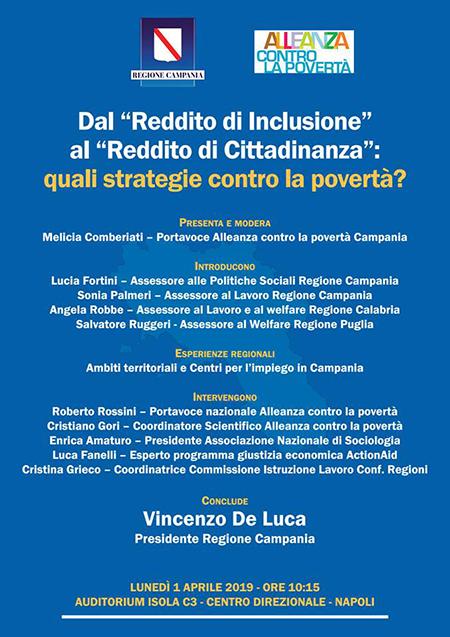 'Dal 'Reddito di Inclusione' al 'Reddito di Cittadinanza': quali strategie contro la povertà?'
