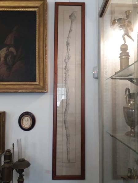 Serigrafia acquaforte stampa Bastone di San Giuseppe