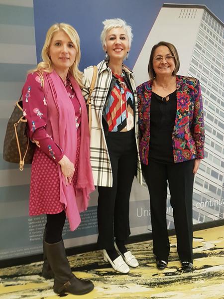 Viviana Beccalossi, Elisabetta Aldrovandi e Carmela Rozza
