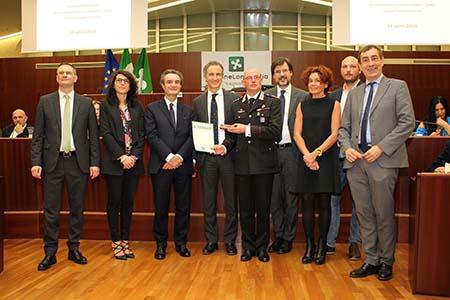 Carabinieri e sindaci in Consiglio regionale della Lombardia