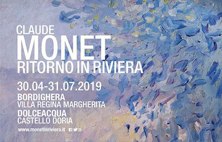 'Claude Monet, Ritorno in Riviera'