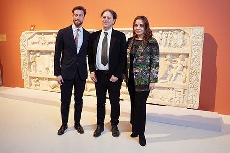 Claudio Marchisio, Paolo Giulierini e Francesca Lavazza
