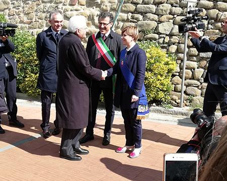 Enrico Rossi e Sergio Mattarella