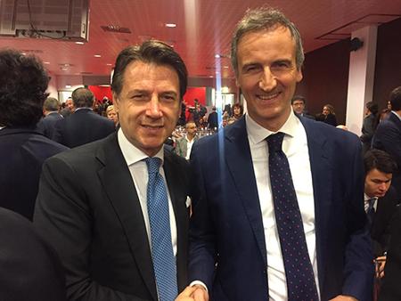 Giuseppe Conte e Alessandro Fermi