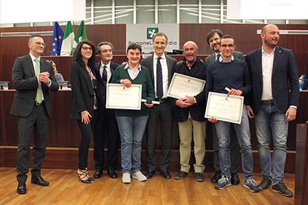 Insegnanti e dirigente scolastico Scuola media 'Vailati' in Consiglio regionale Lombardia