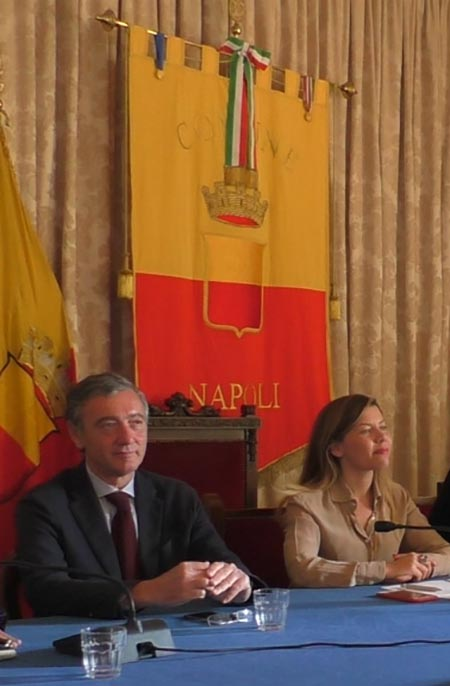Mario Calabrese e Alessandra Clemente