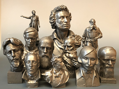 'Monumentskulptura: statue da tavolo. Leningrado 1960 - 1990'