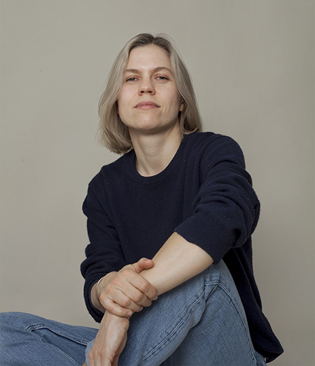 Portrait of Aleksandra Domanović. Photo by Natascha Goldenberg