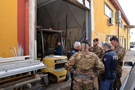 Sopralluogo Esercito Italiano e Forze di Polizia