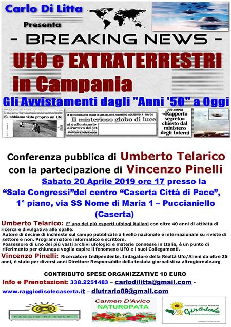 'UFO ed extraterrestri in Campania'