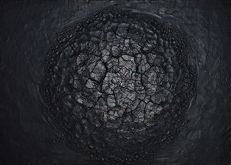 Alberto Burri, Nero cretto, 1979, acrovinilico su cellotex, cm 49,5x69,5