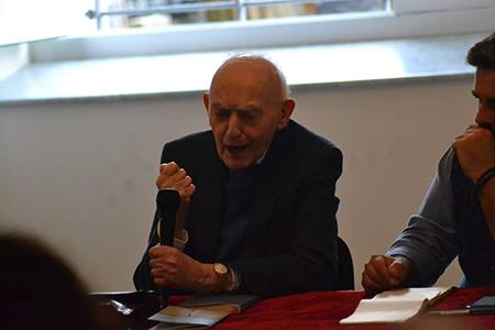 Aldo Masullo - ph Roberto Malfatti - Ricomincio dai libri