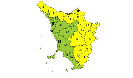 Codice giallo Toscana 22.05.2019