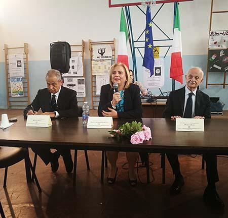 Mario Obinu, Rosanna Rosa, Mario Mori all'Istituto Comprensivo