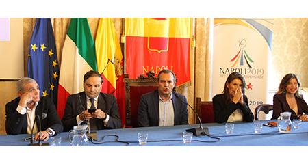 Patrizio Oliva, Gianluca Basile, Luigi de Magistris, Annamaria Palmieri e Alessandra Clemente