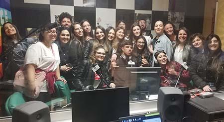 Studenti della Northeastern University a Radio Siani