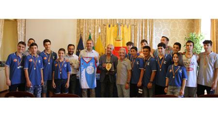 Premiazione Kouros Napoli Basket
