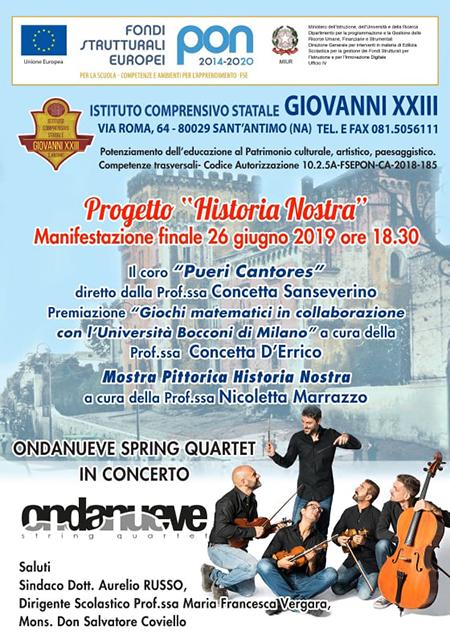 Progetto 'Historia Nostra', manifestazione finale a IC Giovanni XXIII di Sant'Antimo (NA)