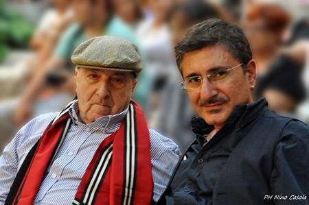 Roberto De Simone e Raffaello Converso ph Nino Casola