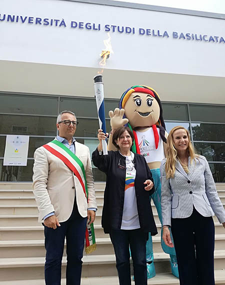 Torcia dell'Universiade di Napoli a Matera