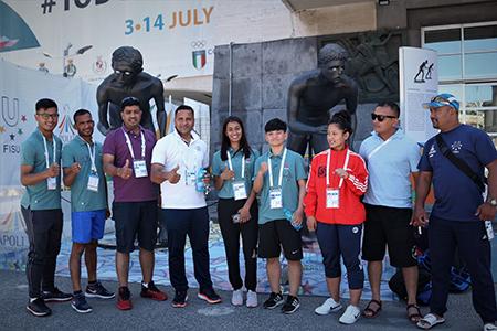 Delegazione Nepal Universiade