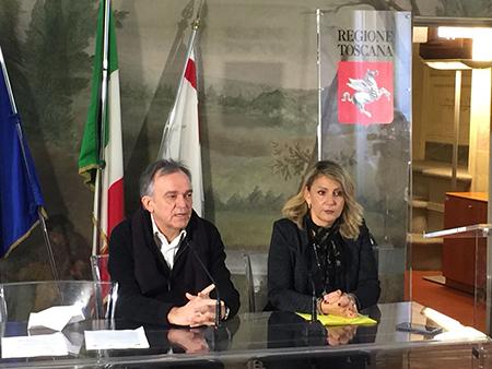 Enrico Rossi e Cristina Grieco