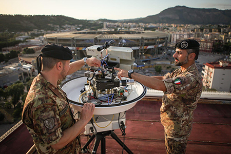 Esercito Italano sistema anti drone Stadio San Paolo di Napoli Universiade