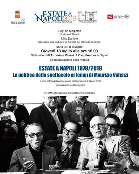 'Estate a Napoli 1979-2019. La politica dello spettacolo ai tempi di Maurizio Valenzi'