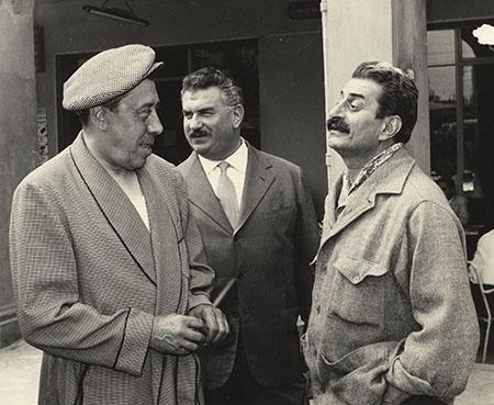 Fernandel, Gino Cervi e Giovannino Guareschi