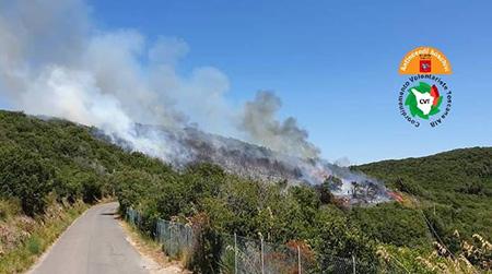 Incendio Cala Piccola Argentario