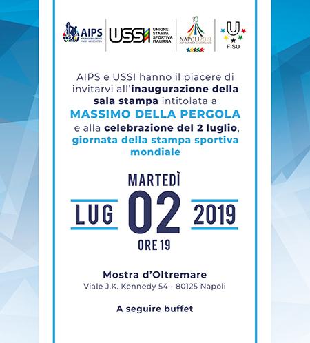 Intitolazione sala stampa Universiade a Massimo Della Pergola
