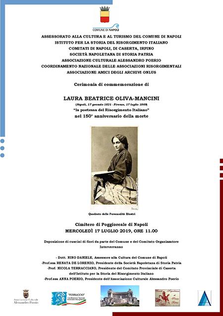 Cerimonia commemorazione 'Laura Beatrice Oliva Mancini'