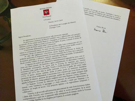 Lettera di Rossi a Conte