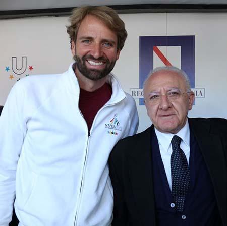 Massimiliano Rosolino e Vincenzo De Luca