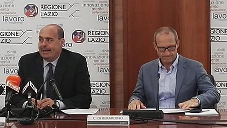 Nicola Zingaretti e Claudio Di Berardino