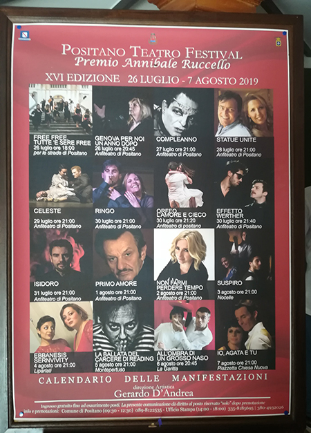 Positano Teatro Festival 2019