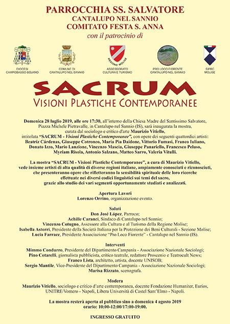 'Sacrum - Visioni Plastiche Contemporanee'