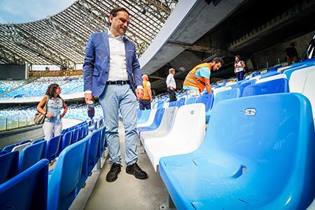 Gianluca Basile allo Stadio San Paolo Napoli
