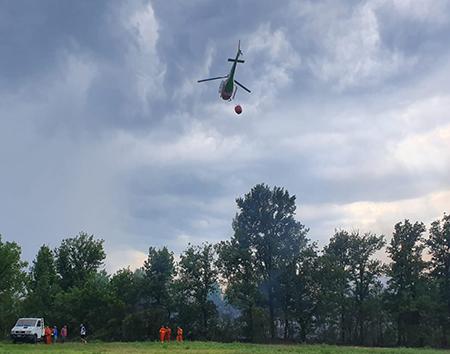 incendio Castelfranco di Sotto (PI)