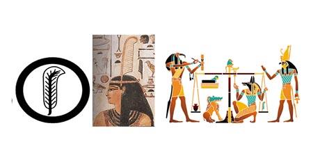 Penna d'oca Maat e Anubi