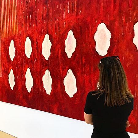 """Pier Paolo Calzolari, """"Painting as a Butterfly"""". Veduta della mostra al Madre, Napoli. Foto da Instagram di @symodelu"""