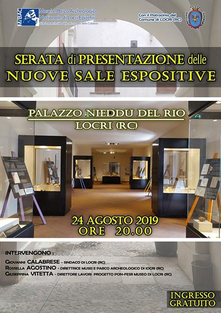 Presentazione nuove sale espositive Palazzo Nieddu Del Rio di Locri (RC)