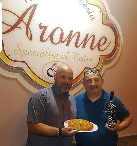 Rosario Lopa e Luigi Barone alla Pasticceria Aronne