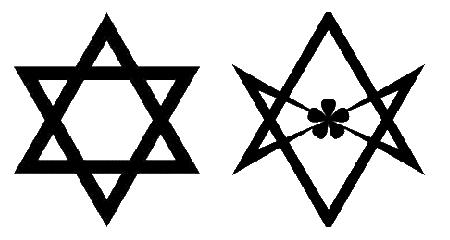 Stella di David ed esagramma unicursale