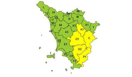 Toscana allerta gialla 31 agosto 2019