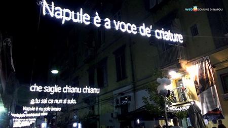 Installazione luminosa Pino Daniele