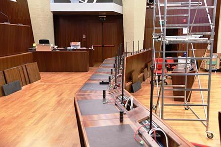 Lavori di restyling Aula consiliare Lombardia