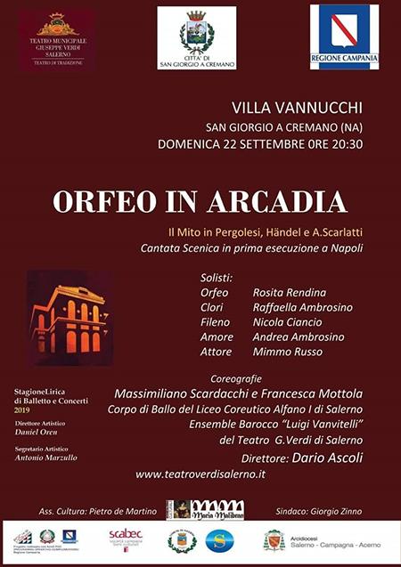 Orfeo in Arcadia - Il mito di Pergolesi, Händel e Scarlatti