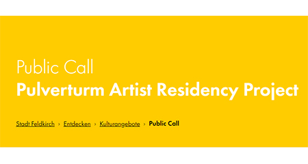 Public Call Pulverturm Artist Residency Project