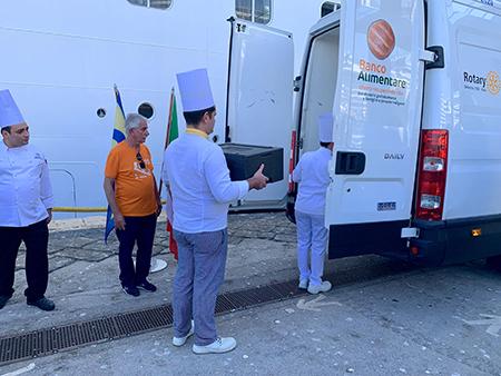 recupero cibo da navi da crociera